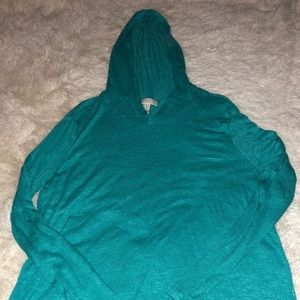Tops - Forever 21 green shirt with hoodie